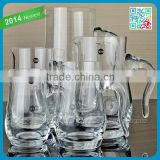 Christamas glass whiskey decanter with handle special used in bars party wine decanter set wholesale