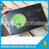 Matt black plate metal card printing