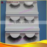 100% human hair eyelash extension, black color, hand-tied strip eyelash, customized package