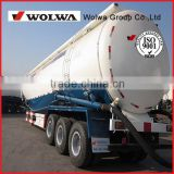 Tri-axle V shaped bulk cement dry cargo transport Tank Semi Trailer to carry powder or flyash