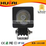 Square aluminum cooling black 10W led light for atv excavator conversion kits and led work light