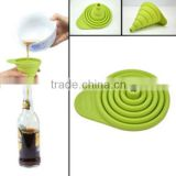 China Supplier Hot Selling silicone foldable funnel