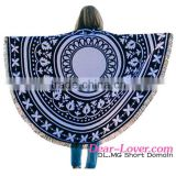 Cheap Wholesale Trendy Black White Pattern Round Beach Towel Sexy Young Girls Bathing Suit