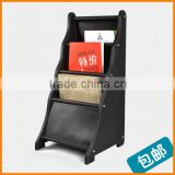 High-grade leather magazine newspaper office data storage shelf newspaper rack creative showcase News Stand shipping