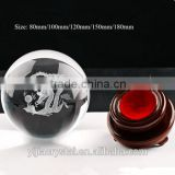 3D Laser Crystal Glass Dragon Ball with Wood Base for Gifts                                                                         Quality Choice