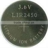 Lir2450 3.6V Lithium Ion Button Cell Battery Lir2450 Rechargeable Battery