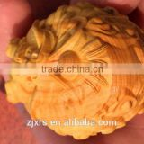 Boxwood carvings / wood crafts / hand pieces carved Man playing disc nucleus zodiac dragon