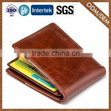 Experienced Factory Custom 100% Leather Nice Quality Mens Genuine Leather Bifold Wallet Purse