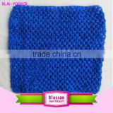 2015 Fashion royal blue wholesale Top Quality lovely baby crochet Girl Tube Top