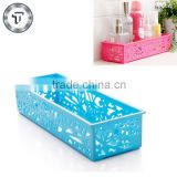 Colorful small bathroom plastic storage baskets