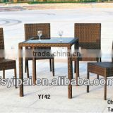 used aluminum frame rattan patio dining furniture sets YC039A YT42