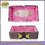 polyester with dot printing foldable travel diaper bags/ baby travel cot                                                                         Quality Choice