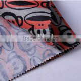 polyester fabric for sublimation printed with tent and bag