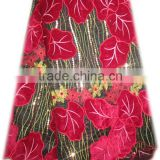 high quality african velvet net lace fabric