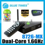 Cortex A9 Amlogic 8726-MX Dual Core 1.6GHz Android 4.1 XBMC Mini PC 1GB 4GB 3D 1080P HDMI Smart TV Box