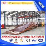 China factory offered hydraulic equipment Ce/ISO certificates 12000kg manual steel mobile loading container ramp for sale