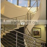 Glass Handrail Manufacturer Modern Design Stainless Steel Glass Railing Model Interior Stair Tempered Glass Railing