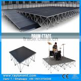 Portable outdoor stage, portable stage ramp, pa sound system for sale
