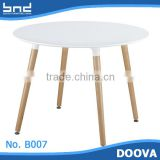 B007 Dining Room Furniture Wood Wooden Dining Table                                                                         Quality Choice