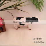 Polyresin funny holstein cow statue garden for sale