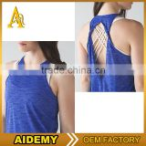 Wholesale women fitness apparel breathable gym wear body fit clothing sexy design tank top