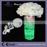 AA battery operated 4 inch round RGB led base under flower vases for wedding centerpieces