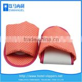 Red Polka Dot collapsible printed cloth beautiful open toe hotel slipper