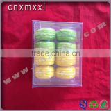 8 pcs clear macaron boxes plastic box printed with PET inner trays food industrial use and grade plastic type 5 macaron