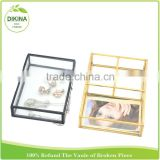Cosmetic holder. home desk accessory, Square Jewelry box For Treasure, photo >><< rose gold black silver gold antique glass tray