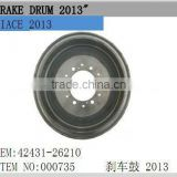 toyota hiace auto brake systems 000735 hiace brake drum for hiace 2013 new modle 42431-26210