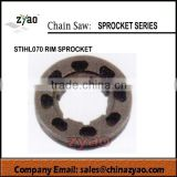 STIHL070 chainsaw rim sprocket, rim sporcket for STIHL070 chain saw,spare parts for STIHL070 gasoline chain saw