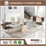 Hongrui furniture wooden top dining table,extension dining table for dining room furniture