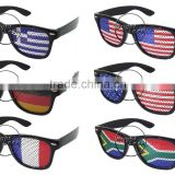 2014 New Collection Pinhole Glasses With Flag printing lens World Cup Promotion 2014 Brazil World Cup Sunglasses (BSP2836)