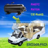 Hot promo! truck roof air conditioner accessories horizontal automotive aircon kompressor qhc-10k