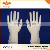 Disposable medical white latex gloves for food handling