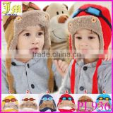 New Cute Baby Toddler Boy Girl Kids Pilot Aviator Cap Warm Hats Earflap Beanie Children Knitted Winter Hats