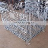 metal container/Metal storage Basket/Wire Mesh Box/Collapsible Warehouse pallet