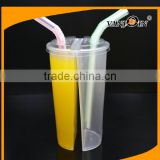 24oz Disposable Twins Cups / Plastic Drinking Cup with Straw with Lids