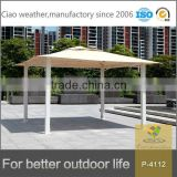 outdoor polycarbonate gazebo garden tent alu roof material
