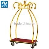 Hotel lobby furniture stainless steel bellman cart /concierge