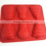 10113Christmas shaped silicone chocolate mould and mold