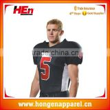 Hongen apparel 2016 top styles American football tops / Professional athletic apparel manufacturers