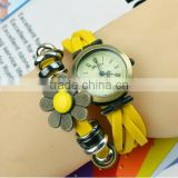 lady fashion top watch brand fashion beautiful flower slap watch