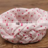 Pink Sailors Knot Headbands Polka Dot Infant Headwrap For Baby Birthday Party