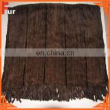 Dark Brown Knitted 100% Real Mink Throw