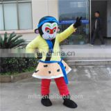 High quality cartoon character monkey king Sun ku kong mascot costume