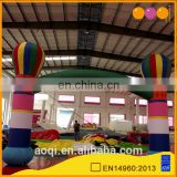 aoqi design fire balloon inflatable arched door for sale