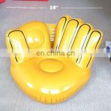 inflatable yellow hand shaped sofa