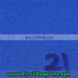 Customized Blue Style 2mm Thickness Neoprene Fabric with Nylon for sell