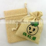 Jute Wedding Favor Pouches Drawstring Pouches Small Jewelry bags 10*15cm